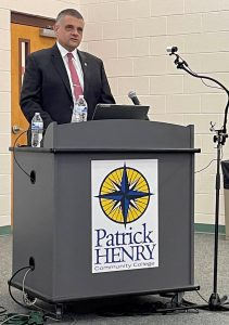 Anzalone answers questions from community as interviews for the next PHCC president begin